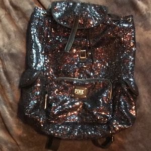 Pink Victoria's Secret sequence backpack